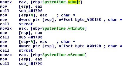 Fig 16. Use of system time to make file name